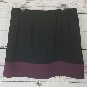 Banana Republic Pleated 2 Tone Skirt Lined Black